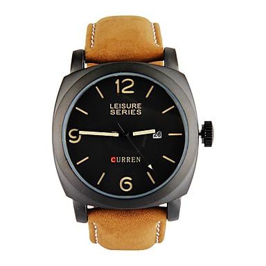 789922d80bc5 Hombre Reloj de Vestir Cuarzo Cuero Auténtico Amarillo 30 m Resistente al Agua  Esfera Grande Analógico-Digital Casual - Dorado Negro 5738556 2019 – €15.99
