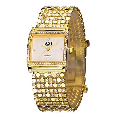 ASJ Pentru femei femei Ceasuri de lux Ceas Brățară ceas de aur Japoneză Auriu imitație de diamant Analog Lux Sclipici Modă Elegant - Alb Negru