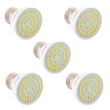 ywxlight® 5pcs gu10 mr16 e27 5w 54LED bec 2835smd led lumina becului de iluminat pentru acasă iluminare AC 220v / ac 110v