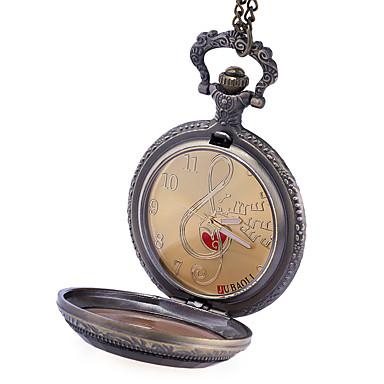 رخيصةأون ساعات الرجال-JUBAOLI رجالي ساعة جيب كوارتز برونز ساعة كاجوال / مماثل كاجوال - ذهبي أسود برتقالي
