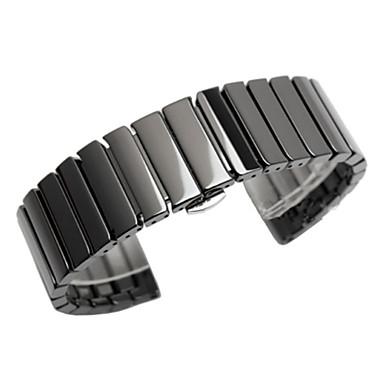 voordelige Smartwatch-accessoires-Horlogeband voor Gear S3 Frontier / Gear S3 Classic Samsung Galaxy Butterfly Buckle Metaal / Keramiek Polsband
