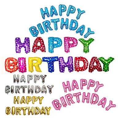 13pcs / set 16inch عيد ميلاد سعيد الأبجدية رسالة بالونات متعددة الألوان احباط بالونات حزب