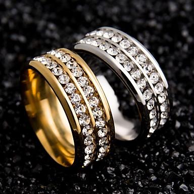 Women S Couple Rings Stainless Steel Zircon Ladies Unique Design
