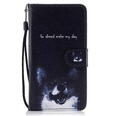 رخيصةأون حافظات / جرابات هواتف جالكسي J-غطاء من أجل Samsung Galaxy J5 (2017) / J5 (2016) / J5 محفظة / حامل البطاقات / مع حامل غطاء كامل للجسم كلب قاسي جلد PU