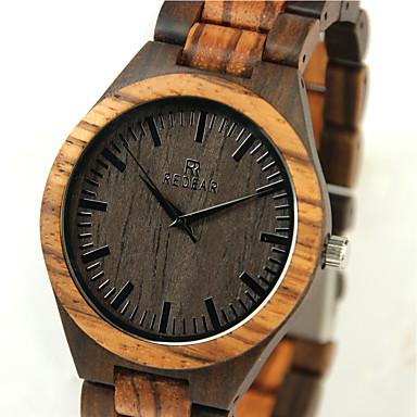 رخيصةأون ساعات الرجال-رجالي ساعة المعصم خشبساعة ياباني كوارتز كوارتز ياباني الخشب البيج كوول خشبي مماثل