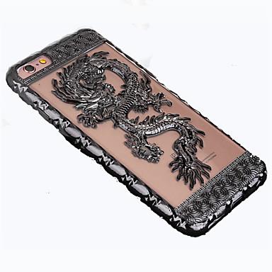voordelige iPhone-hoesjes-hoesje Voor Apple iPhone 7 Plus / iPhone 7 / iPhone 6s Plus Beplating / Reliëfopdruk Achterkant dier Zacht TPU