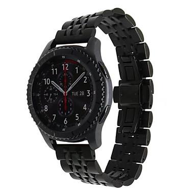 voordelige Horlogebandjes voor Samsung-Horlogeband voor Gear S3 Classic Samsung Galaxy Butterfly Buckle Metaal / Roestvrij staal Polsband