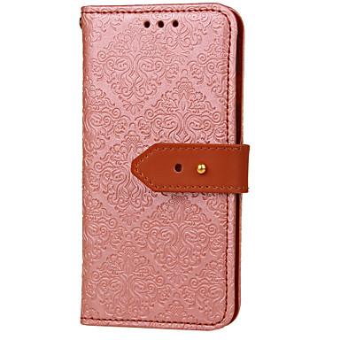 Недорогие Кейсы для iPhone 5с-Кейс для Назначение Apple iPhone X / iPhone 8 Pluss / iPhone 8 Кошелек / Бумажник для карт / со стендом Чехол Цветы Твердый Кожа PU