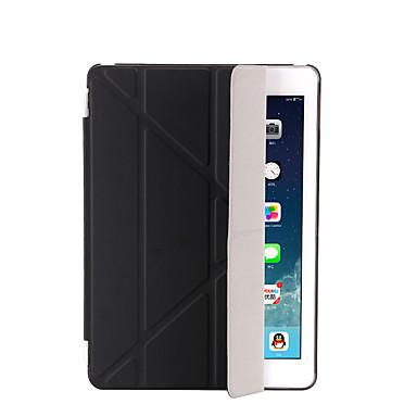 رخيصةأون أغطية أيباد-غطاء من أجل Apple iPad Air / iPad 4/3/2 / iPad Mini 3/2/1 مع حامل / نوم / استيقاظ أتوماتيكي / قلب غطاء كامل للجسم لون سادة قاسي جلد PU / iPad (2017)