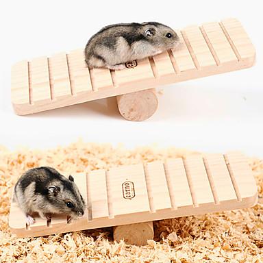 Недорогие Аксессуары для мелких животных-Шиншиллы Мышь хомяк Игрушки Колеса для тренировки Портативные Дерево