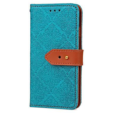 Недорогие Чехлы и кейсы для Galaxy S3-Кейс для Назначение SSamsung Galaxy S7 edge / S7 / S6 edge Кошелек / Бумажник для карт / со стендом Чехол Плитка Твердый Кожа PU