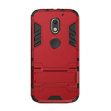 povoljno Maske za mobitele-Θήκη Za Motorola Moto X Play / Moto G4 Plus / MOTO G4 Otporno na trešnju / sa stalkom Stražnja maska Jednobojni Tvrdo PC