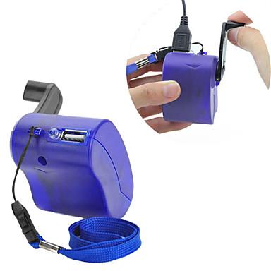 323689b4c86 USB de la manivela del teléfono celular dínamo manual de emergencia  cargador para MP3 MP4 móvil pda-- azul 5681824 2019 – €3.99