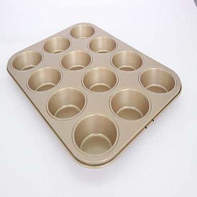 Molde Para Hornear Cupcake Pastel Metal Manualidades Dia De Accion