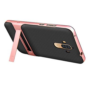 Недорогие Кейсы для Huawei других серий-Кейс для Назначение Huawei P9 / Huawei Honor V8 / Huawei Huawei P9 / Honor 6X / Huawei Honor V8 со стендом Кейс на заднюю панель Однотонный Твердый ПК / Mate 9 Pro