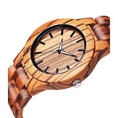 رخيصةأون ساعات الرجال-رجالي ساعة المعصم كوارتز الخشب البيج خشبي مماثل أنيق