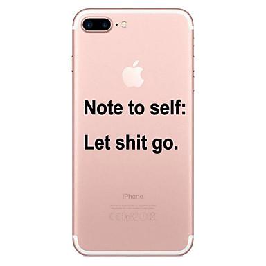 غطاء من أجل Apple iPhone 8 Plus / iPhone 8 / iPhone 7 Plus شفاف / نموذج غطاء خلفي جملة / كلمة ناعم TPU