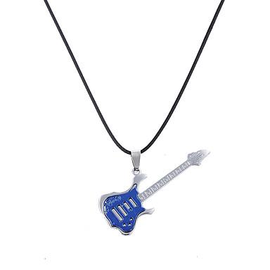 Недорогие Ожерелья-Муж. Жен. Ожерелья с подвесками С логотипом На заказ Уникальный дизайн В виде подвески Гипоаллергенный Нержавеющая сталь Белый Черный Синий светодиод Ожерелье Бижутерия Назначение