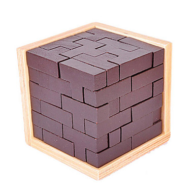 olcso Fejtörők-Tetris Fából készült építőjátékok Fejtörők Luban zár Játékok Négyzet IQ teszt Uniszex 1 Darabok