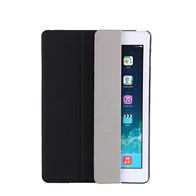 رخيصةأون أغطية أيباد-غطاء من أجل Apple iPad Air / iPad 4/3/2 / iPad Mini 3/2/1 مع حامل / نوم / استيقاظ أتوماتيكي / قلب غطاء كامل للجسم لون سادة قاسي جلد PU / iPad Pro 10.5 / iPad (2017)