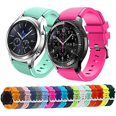 Недорогие Часы для Samsung-Ремешок для часов для Gear S3 Frontier Samsung Galaxy Спортивный ремешок Pезина Повязка на запястье