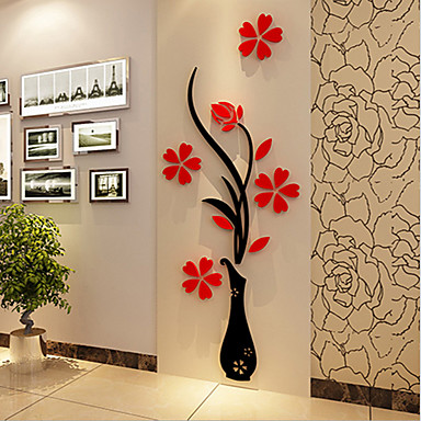 Christmas romance florals wall stickers 3d wall stickers decorative wall stickersvinyl material home decoration wall decal 5751255 2018 12 99