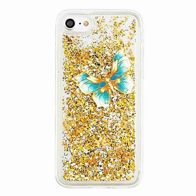 voordelige iPhone-hoesjes-hoesje Voor Apple iPhone 7 Plus / iPhone 7 / iPhone 6s Plus Stromende vloeistof / Patroon Achterkant Vlinder / Glitterglans Zacht TPU