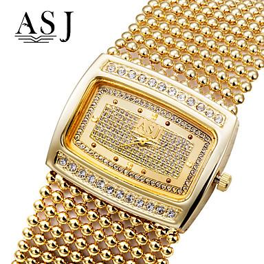 ASJ Pentru femei Ceasuri de lux Ceas Brățară ceas de aur Japoneză Quartz Cupru Argint / Auriu imitație de diamant Analog femei Lux Sclipici Modă Elegant - Auriu Argintiu