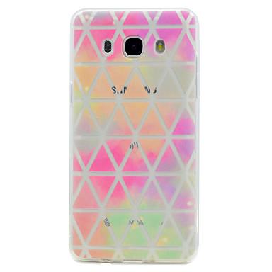 voordelige Galaxy J-serie hoesjes / covers-hoesje Voor Samsung Galaxy J7 Prime / J5 Prime / J5 (2016) Transparant / Patroon Achterkant Geometrisch patroon Zacht TPU