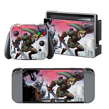 رخيصةأون إكسسوارات ننتيندو سويتش-B-SKIN Nintendo Switch / NS لاصق من أجل تبديل نينتندو ، محمول / حداثة لاصق الفينيل 1 pcs وحدة