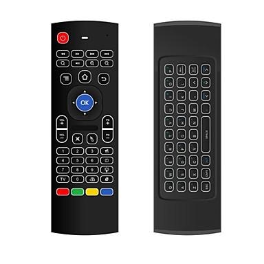 olcso Televízió dobozok-MX3 Air Mouse / billentyűzet / Távirányító Mini 2,4 GHz-es vezeték nélküli drótnélküli Air Mouse / billentyűzet / Távirányító Kompatibilitás