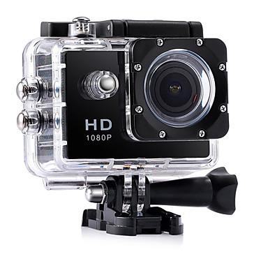 olcso Sport kamerák-CA7 videonapló Vízálló / Több funkciós / Széles látószög 32 GB 60fps / 120fps / 30 fps (képkocka per másodperc) 12 mp 1920 x 1080 Pixel 2 hüvelyk CMOS Sorozat / Time-lapse 30 m