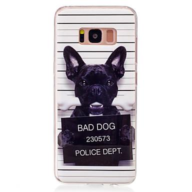 Недорогие Чехлы и кейсы для Galaxy S6 Edge-Кейс для Назначение SSamsung Galaxy S8 / S7 edge / S7 IMD / С узором Кейс на заднюю панель С собакой Мягкий ТПУ
