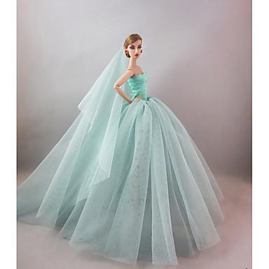 olcso Barbie baba ruházat-Baba ruha Party / Estélyi mert Barbie Szintetikus fonál Poliészter Spandex Lycra Ruha mert Lány Doll Toy