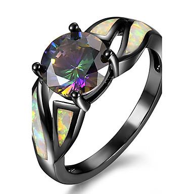 1199 Damskie Syntetyczny Opal Pierścień Pierścionek Zaręczynowy Miedź Pozłacany Spersonalizowane Luksusowy Moda 5 6 7