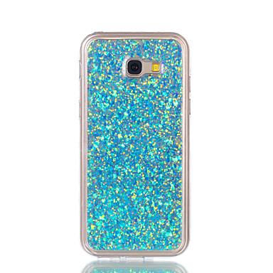 رخيصةأون حافظات / جرابات هواتف جالكسي A-غطاء من أجل Samsung Galaxy A3 (2017) / A5 (2017) / A7 (2017) نموذج غطاء خلفي بريق لماع ناعم أكريليك