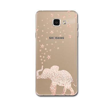 hoesje Voor Samsung Galaxy A3 (2017) / A5 (2017) / A7 (2017) Ultradun / Patroon Achterkant Olifant Zacht TPU