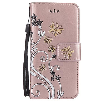 cheap Galaxy A5 Cases / Covers-Case For Samsung Galaxy A3(2017) / A5(2017) / A7(2017) Wallet / Card Holder / with Stand Full Body Cases Flower Hard PU Leather