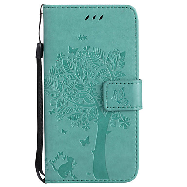 cheap Galaxy A5 Cases / Covers-Case For Samsung Galaxy A3(2017) / A5(2017) / A7(2016) Wallet / Card Holder / with Stand Full Body Cases Tree Hard PU Leather