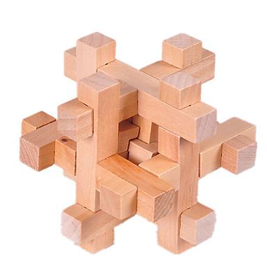 olcso Fejtörők-Fából készült építőjátékok IQ-elmejáték Luban zár IQ teszt Fa Uniszex Játékok Ajándék
