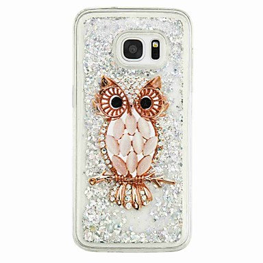 voordelige Galaxy S-serie hoesjes / covers-hoesje Voor Samsung Galaxy S7 edge / S7 / S6 edge Stromende vloeistof / Patroon Achterkant Uil Zacht TPU