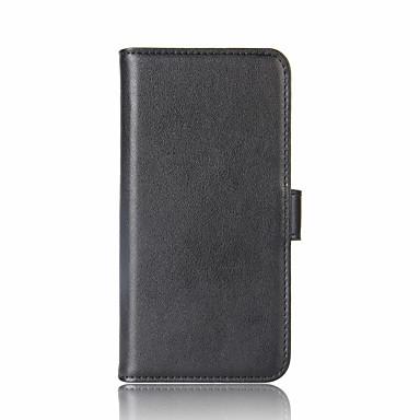 Недорогие Чехлы и кейсы для Sony-Кейс для Назначение Sony Sony Xperia XZ1 / Sony Xperia XZ Premium / Sony Xperia XZ Кошелек / Бумажник для карт / со стендом Чехол Однотонный Твердый Настоящая кожа