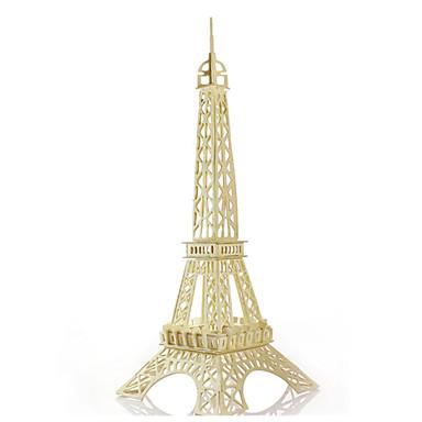 رخيصةأون 3D الألغاز-قطع تركيب3D تركيب مجموعات البناء برج اصنع بنفسك خشبي الحديد كلاسيكي للجنسين ألعاب هدية / النماذج الخشبية