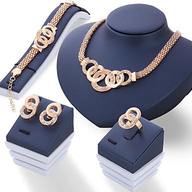 povoljno Komplet nakita-Žene Komplet nakita dame Jedinstven dizajn Talijanski Umjetno drago kamenje Naušnice Jewelry Zlato / Pink Za Vjenčanje Party Dnevno / Prstenje / Ogrlice
