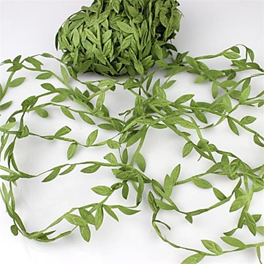 povoljno Dekoracija doma-20meter svilenih listova u obliku umjetnog zelenog lišća za vjenčanje ukras DIY vijenac dar scrapbooking obrt lažni cvijet