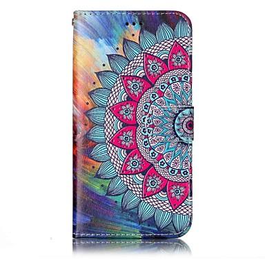preiswerte Hüllen / Cover für LG-Hülle Für LG LG G6 Geldbeutel / Kreditkartenfächer / mit Halterung Ganzkörper-Gehäuse Mandala Hart PU-Leder