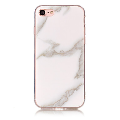 olcso iPhone 5c tokok-Case Kompatibilitás Apple iPhone 7 Plus / iPhone 7 / iPhone 6s Plus IMD Fekete tok Márvány Puha TPU