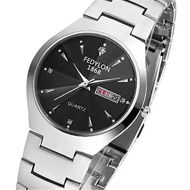 Недорогие Часы на металлическом ремешке-Муж. Модные часы Кварцевый Дамы / Аналоговый Черный / Нержавеющая сталь