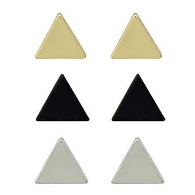 رخيصةأون أطقم المجوهرات-نسائي أقراط الزر تصميم فريد أساسي الأقراط مجوهرات أبيض من أجل مناسب للحفلات مناسب للبس اليومي فضفاض