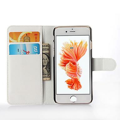 voordelige iPhone 5 hoesjes-hoesje Voor Apple iPhone 7 Plus / iPhone 7 / iPhone 6s Plus Portemonnee / Kaarthouder / Schokbestendig Volledig hoesje Effen Hard PU-nahka